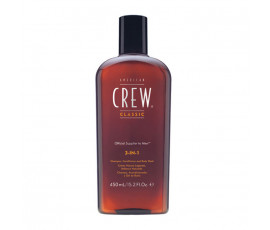 American Crew 3 in 1 Shampoo Conditioner & Body Wash 450 ml
