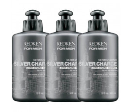 Redken For Men Silvercharge Shampoo 300 ml x 3