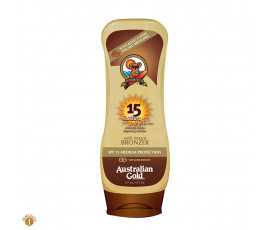 Australian Gold SPF15 Lotion Sunscreen BRONZER 237 ml