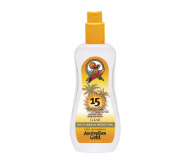 Australian Gold SPF15 Spray Gel Sunscreen CLEAR 237 ml
