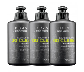 Redken For Men Go Clean Shampoo 300 ml X 3